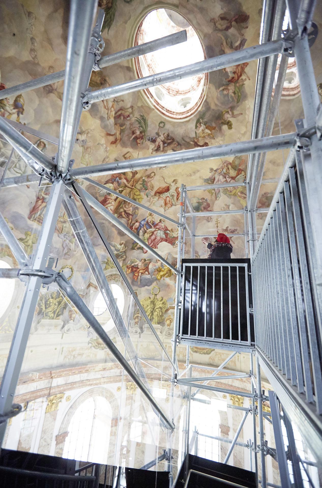 Karlskirche neugestaltung des Panoramalifts